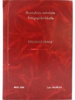 Vazba diplomové práce - kombinace červená/stříbrná