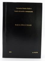 Vazba diplomové práce - kombinace černá/zlatá