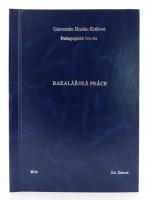 Vazba diplomové práce - kombinace modrá/stříbrná