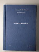 Vazba diplomové práce PLÁTNO– kombinace modrá/stříbrná