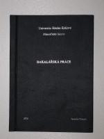 Vazba diplomové práce PLÁTNO– kombinace černá/stříbrná